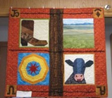 Quilt Lover's Guild Challenge Quilts are at the Library