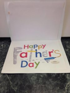 This is the message inside the card for their lucky dads.