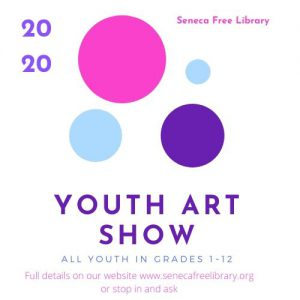 Bring in Artwork for Youth Art Show @ Seneca Free Library