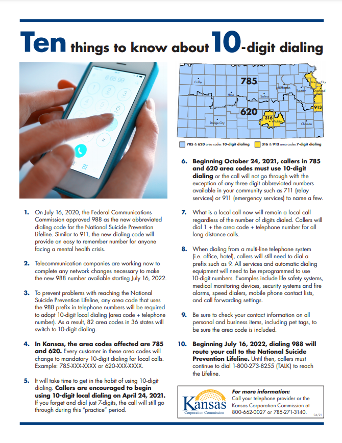 Ten Digit Dialing: What You Need to Know